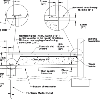 Technical Drawings - Techno Metal Post