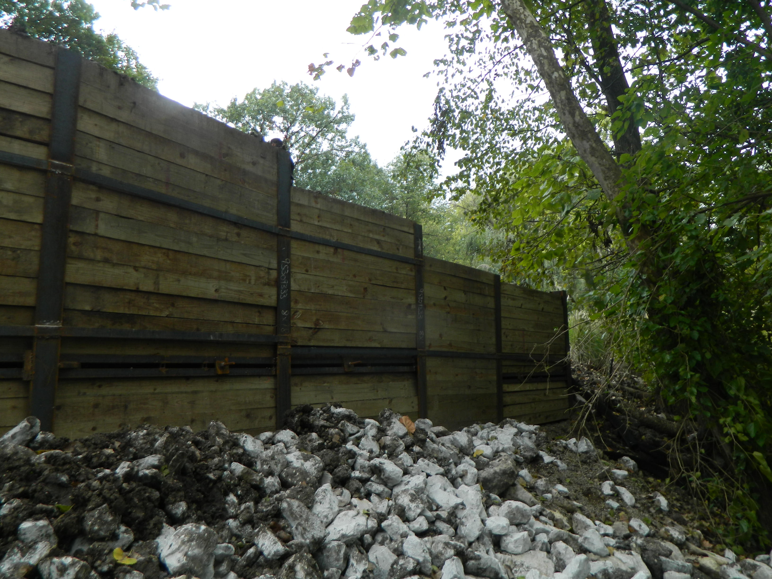 Helical Piles for a Residential Retaining Wall - Techno